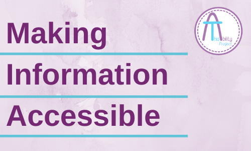 Making Information Accessible
